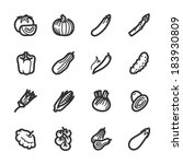 vegetables icons. professional... | Shutterstock .eps vector #183930809