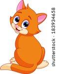 funny cat cartoon | Shutterstock .eps vector #183934658