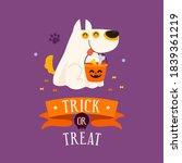 happy halloween  trick or treat ... | Shutterstock .eps vector #1839361219