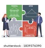 flat design with people. fomc   ... | Shutterstock .eps vector #1839376390