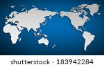 vector flat world map with...   Shutterstock .eps vector #183942284