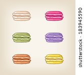 vector stack of colorful... | Shutterstock .eps vector #183945590