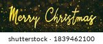 merry christmas handwritten...   Shutterstock . vector #1839462100