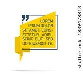 design quote speech bubble...   Shutterstock .eps vector #1839478813