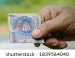 selective focus of bank note...   Shutterstock . vector #1839564040