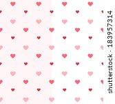 illustration of seamless heart... | Shutterstock .eps vector #183957314
