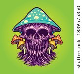 zombie scary magic mushrooms... | Shutterstock .eps vector #1839575350