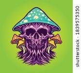 zombie scary magic mushrooms... | Shutterstock .eps vector #1839575350