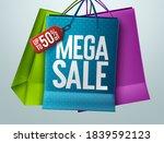 mega sale vector banner concept ... | Shutterstock .eps vector #1839592123