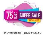 super sale vector banner... | Shutterstock .eps vector #1839592150