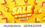 special sale 50  off poster or... | Shutterstock .eps vector #1839632509