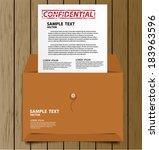 confidential envelope vector... | Shutterstock .eps vector #183963596