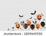 halloween party  banner... | Shutterstock .eps vector #1839645550
