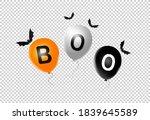 halloween party  banner  orange ... | Shutterstock .eps vector #1839645589