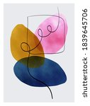 abstract contemporary modern... | Shutterstock .eps vector #1839645706