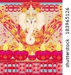 diwali ganesha design  | Shutterstock .eps vector #183965126