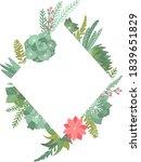 set of winter succulents... | Shutterstock .eps vector #1839651829
