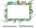 winter succulents wreathes and... | Shutterstock .eps vector #1839652663