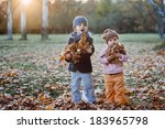 brother and sister in the... | Shutterstock . vector #183965798