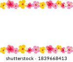 colorful and summery hibiscus... | Shutterstock .eps vector #1839668413