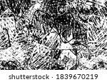 grunge black and white. chaotic ... | Shutterstock .eps vector #1839670219
