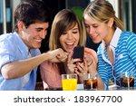 a group of friends having fun... | Shutterstock . vector #183967700