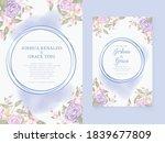 wedding invitation template... | Shutterstock .eps vector #1839677809