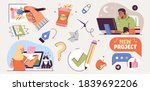 set of illustrations about... | Shutterstock .eps vector #1839692206