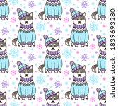 Seamless Pattern With Dog...