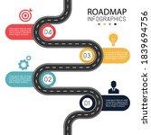 roadmap infographic background... | Shutterstock .eps vector #1839694756