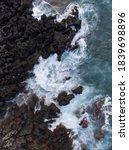 Aerial Top Down Image Of Ocean...
