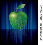 vector abstract big green apple ... | Shutterstock .eps vector #183970124