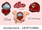 marriage proposal. betrothal....   Shutterstock .eps vector #1839714886
