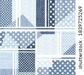 seamless  denim patchwork on... | Shutterstock .eps vector #1839725269