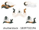 set of winter pre made design... | Shutterstock .eps vector #1839732196
