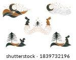 set of winter pre made design... | Shutterstock .eps vector #1839732196