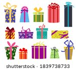 Set With Multi Colored Boxes Of ...
