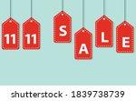11.11 mega sale singles daysale ... | Shutterstock .eps vector #1839738739