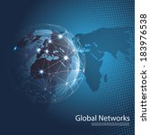 global networks   eps 10 vector ... | Shutterstock .eps vector #183976538