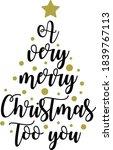 merry christmas vector design ...   Shutterstock .eps vector #1839767113