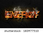 energy text | Shutterstock . vector #183977510