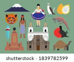 flat vector illustration set of ... | Shutterstock .eps vector #1839782599