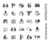 moving and relocation icons...   Shutterstock .eps vector #1839825919