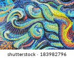 Colorful Mosaic On The Wall.