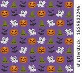 set with pumpkin  ghost  bats... | Shutterstock .eps vector #1839832246
