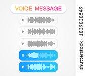 voice message templates. audio...   Shutterstock .eps vector #1839838549