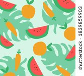 modern abstract tropical fruit... | Shutterstock .eps vector #1839859903