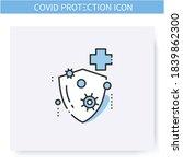 antibacterial formula line icon.... | Shutterstock .eps vector #1839862300