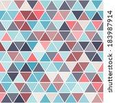 stylish geometric seamless... | Shutterstock .eps vector #183987914