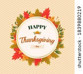 thanksgiving background in flat ... | Shutterstock .eps vector #1839880219